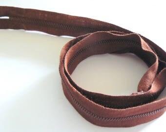 Dmc Metalsa 50-70's Brown 55cm zip
