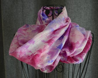 Scarf silk ponge 9 - roulote hand shade 3