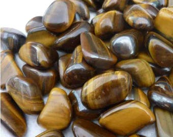 4 cm 1 stone rolled Tiger's eye for the creation of your jewelry gemstones
