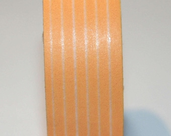 Washi tape (washi) - striped orange / apricot