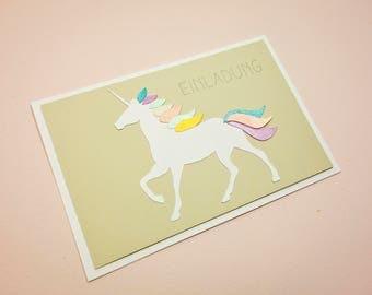 Invitation card with Unicorn