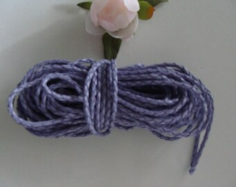 Purple genuine leather woven braided 3 mm diameter cord