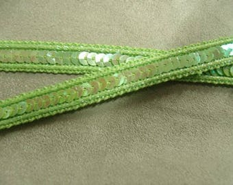 glitter - 1 cm - very soft - green stripe