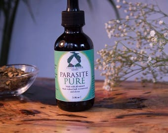 Parasite Pure Herbal Tincture 2oz – Black Walnut Hull - Wormwood - Cloves - Extract