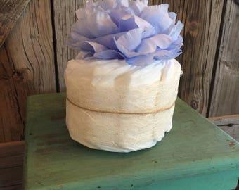 Shabby chic mini diaper cake