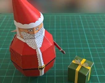 Paper Santa Model DIY Paper Craft