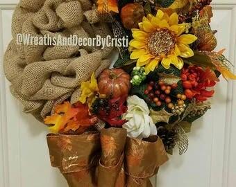 Burlap Wreath, Cheap Wreaths, Door Hanger, Door Decor, Door Wreath, Patio