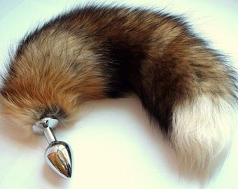 Tushytoys Tail Butt Plug Fox Fur Size Large