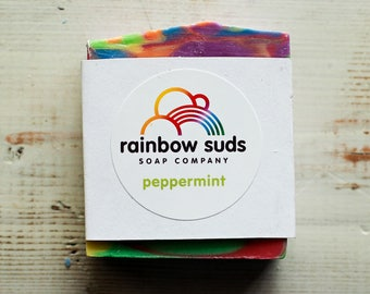 Rainbow Soap Bar - multiple scents - 25% of proceeds to charity