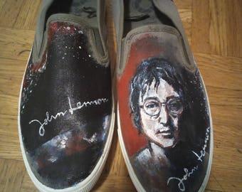 John Lennon painted shoes