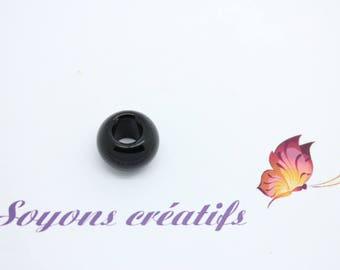 Bracelet 1 Perle stone natural style pandor a 14mm black - SC44933