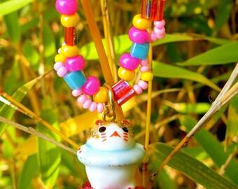 Necklace with Maneki Neko Kawaii style