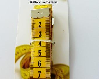 plastic yellow dressmaker couturier 150 cm tape measure