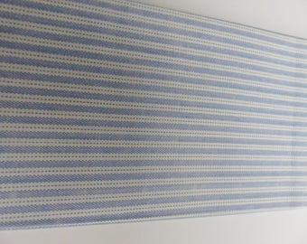 cut of fabric 49 X 49 cm Blue and white stripes