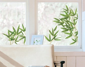 Large stickers electrostatic glass plant bamboo Board 67 cm x 49 cm