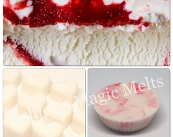 strawberry vanilla wax melts, sweet scented wax, fruity wax melts, food wax melts, cheap wax, highly scented wax tart melts