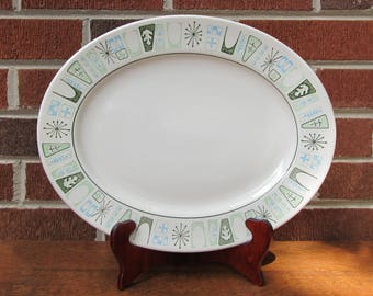 """Cathay 13"""" Platter Taylor Smith Taylor TST Mid Century Modern MCM"""