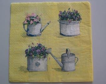 """Towel paper 33 x 33 """"flower pots"""""""