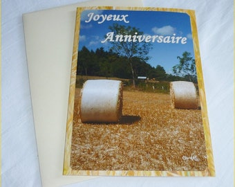 "Carte double d'anniversaire "" Moissons "" de Céline Photos Art Nature"
