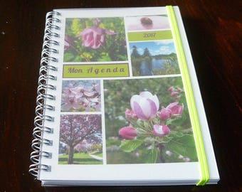 """Agenda de poche 2018 10x15 cm """"Envie de rose"""" de Céline Photos Art Nature sur commande"""
