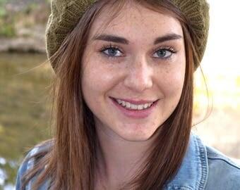 Hat, bronze-colored wool beret - autumn/winter 2016