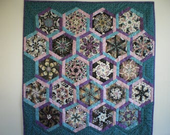 patchwork wall hanging wall plaid kaleidoscope Butterfly