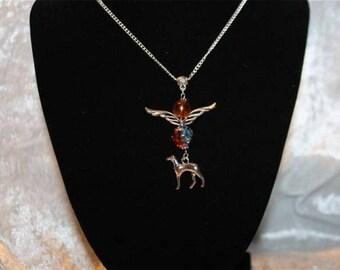 Greyhound charm neck chain
