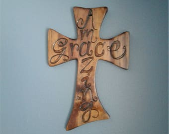 Wooden cross wall hanging