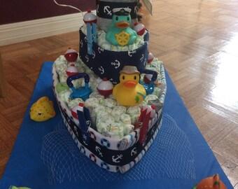 Diaper Boat Diaper Cake