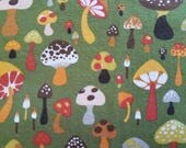 Funky Mushroom Cotton Fabric