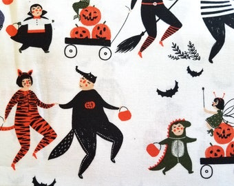 Family Trick Or Treat Halloween Fabric