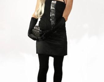 Black 'blink 'up' pine' pencil skirt up rock clothing