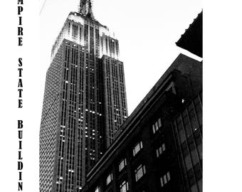 the Empire State Building, New York, Black and White Photography, Skyscraper