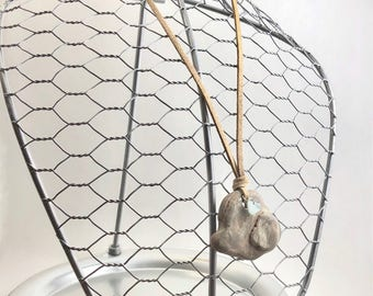 Lake Michigan hagstone necklace