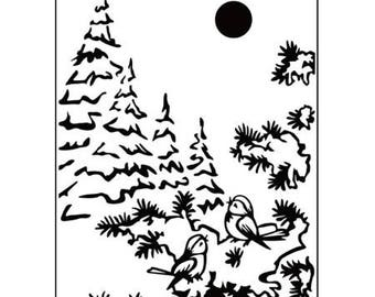 Embossed tree 10.6 x 15 cm_PIF015 workbook
