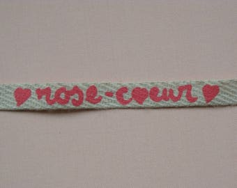 Pink heart Ribbon Picoti Picota