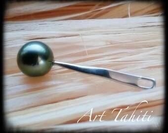 Liane Tahitian black pearl pendant