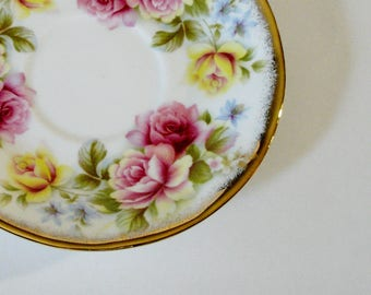 Jacobean Elizabethan Saucer, Replacement Saucer, Vintage Staffordshire, Fine Bone China Replacement, Made in England