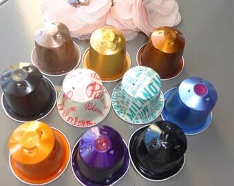Necklace recycling capsules nespresso original gift for girl - Bricolage capsule nespresso ...