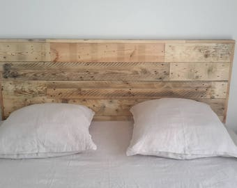 rustic wood headboard wall decal rustic headboard wall mural. Black Bedroom Furniture Sets. Home Design Ideas