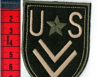 Fusible US shield, or sewing Patch Applique