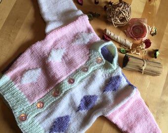 Multi Diamond Knit Cardigan