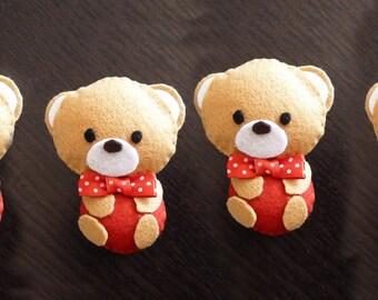 Christmas teddy bears to hang on the tree