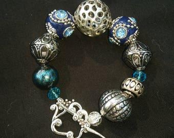 Unique Bangle Bracelets Mixed Materials