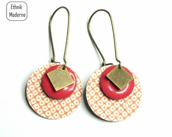 Pierced ears pattern Japanese square sequin