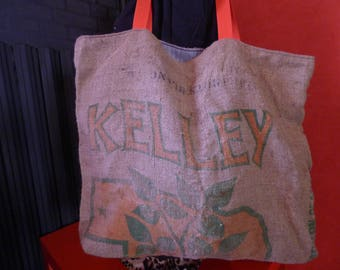 U.S.A recycled burlap tote bag
