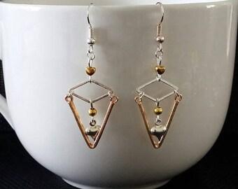 """Earrings """"Geometric"""" by 5cm"""