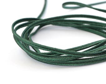 Made in France Christmas green 3mm soutache cord