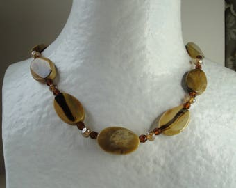 Beautiful Brown agate necklace