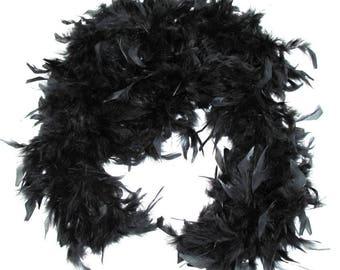 Black Black quality feather BOA